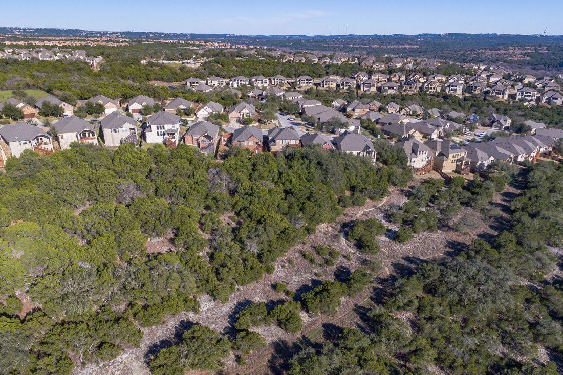 Aerial View of Greenbelt near J-Trail in Steiner Ranch