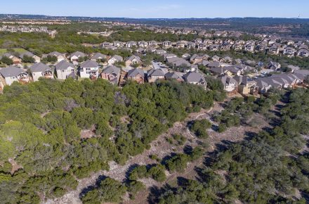 Aerial View of Greenbelt near J-Trail in Steiner Ranch